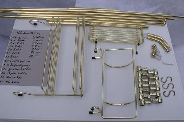 Relingsystem kuche messing in zeitz kuchenmobel for Relingsystem küche