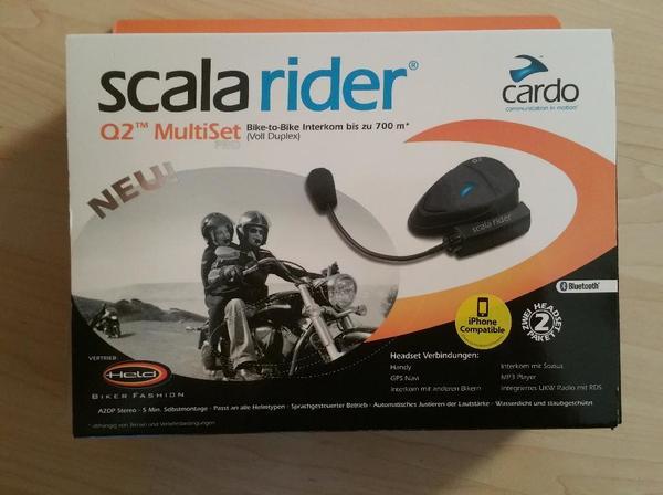 scala rider q2 pro doppelset vollst ndig f r zwei helme preis 220 eur in gauting motorr der. Black Bedroom Furniture Sets. Home Design Ideas
