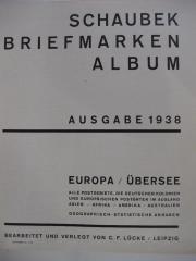 Schaubeck Briefmarkenalbum 1938