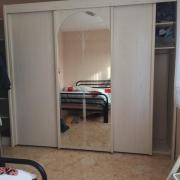 Schlafzimmer (Bett + Spiegelschrank )