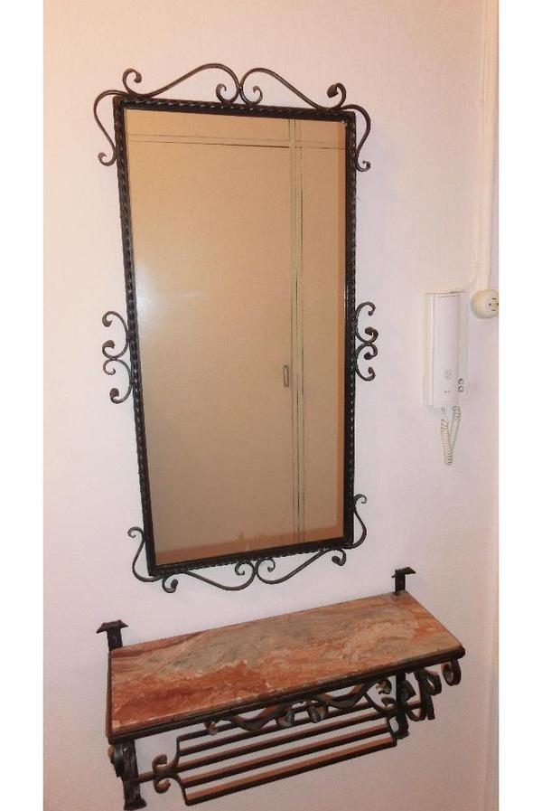 schmiedeeiserne garderobe mit spiegel in m nchen garderobe flur keller kaufen und verkaufen. Black Bedroom Furniture Sets. Home Design Ideas