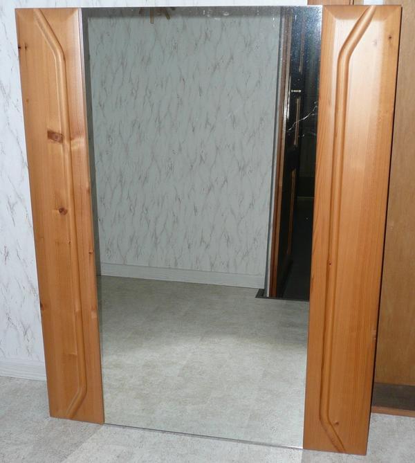 sch ner massivholz wandspiegel 80 x 100cm f r flur garderobe schlafzimmer wohnzimmer wie. Black Bedroom Furniture Sets. Home Design Ideas