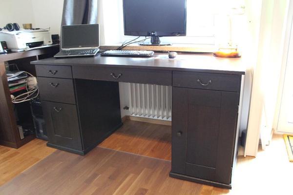 schreibtisch im kolonialstil alve von ikea zu verkaufen. Black Bedroom Furniture Sets. Home Design Ideas