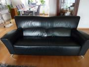 Schwarze 3-Sitzer
