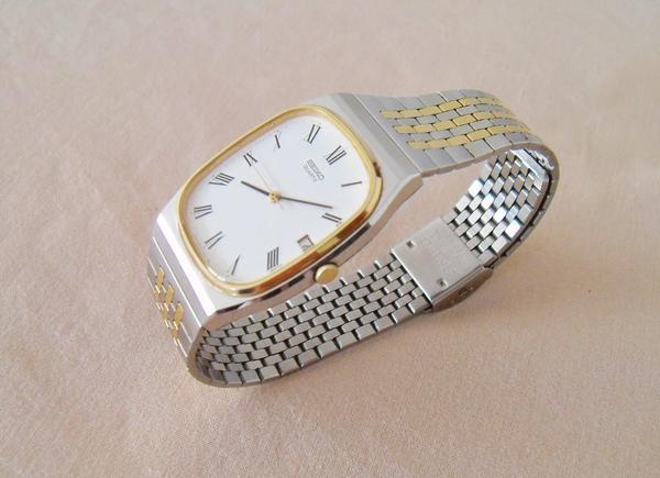 seiko armbanduhr wie neu stahl gold 39 bicolor 39 unisex uhr. Black Bedroom Furniture Sets. Home Design Ideas