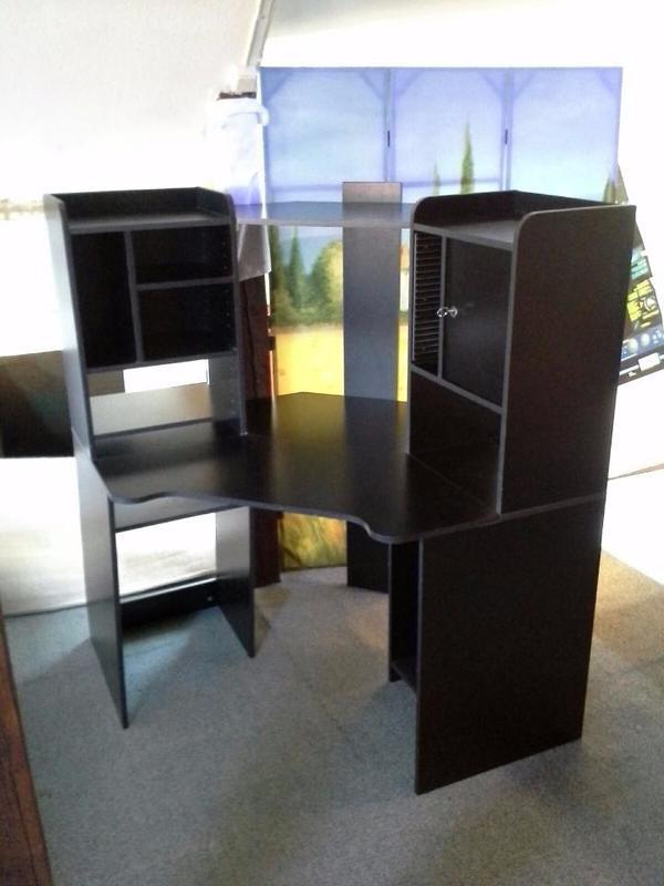 sekret r ecksekret r schreibtisch b ro schwarz b rom bel. Black Bedroom Furniture Sets. Home Design Ideas
