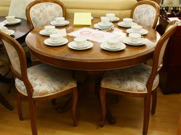 selva esstisch rund ausziehbar 4 st hle in leonberg speisezimmer essecken kaufen und. Black Bedroom Furniture Sets. Home Design Ideas