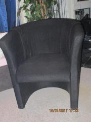 Sessel, schwarz