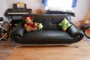 Sofa schwarz Kunstleder