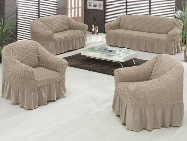 sofahusse couchhusse husse 3er 2er 1er sofahussen grau spannbezug sofabezug sofabez ge in. Black Bedroom Furniture Sets. Home Design Ideas