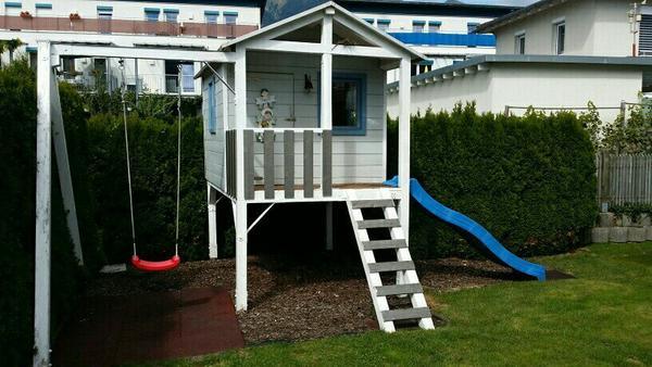 spielhaus mit schaukel und rutsche in ludesch sonstiges With französischer balkon mit spielhaus garten kinder