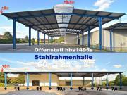 Stahlhalle 25x60x8m Überdachung