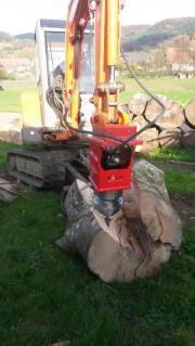 Starkholzaufarbeitung mit Kegelspalter