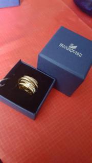 swarovski ring vergoldet
