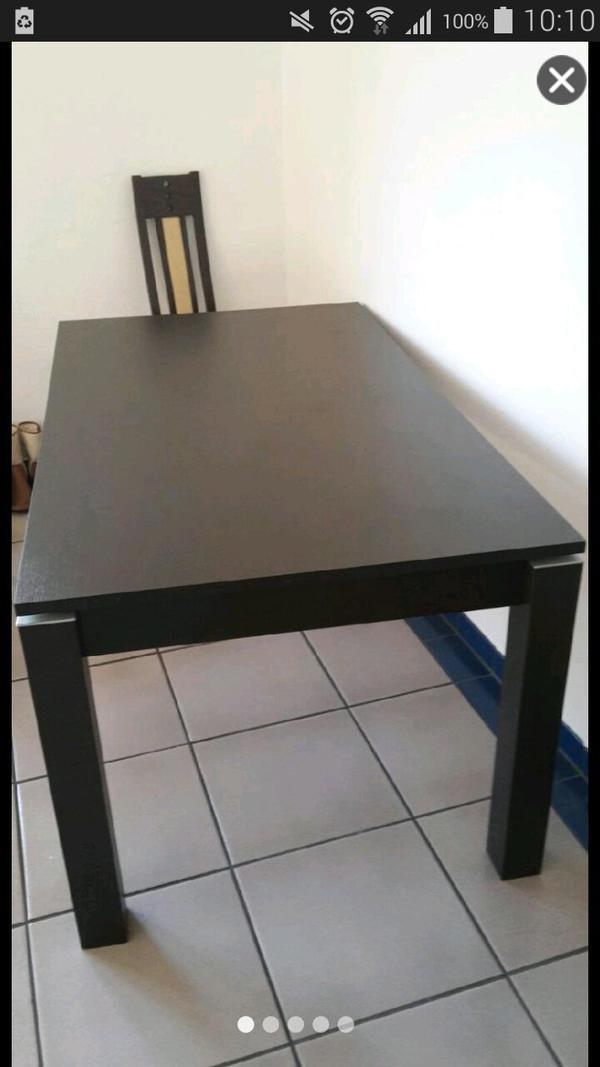 esstisch braun kaufen gebraucht und g nstig. Black Bedroom Furniture Sets. Home Design Ideas
