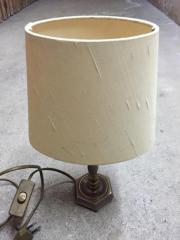 Tischlampe Messingfuss , heller