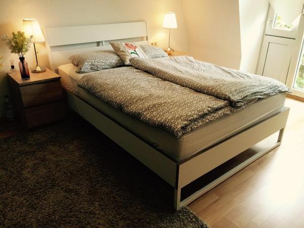 trysil bettgestell mit hyllestad matratze 140x200cm in ulm betten kaufen und verkaufen. Black Bedroom Furniture Sets. Home Design Ideas