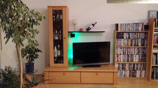 tv schrank lowboard m vitrine u hifi regal buche massiv dvd b cher regal in lorch regale. Black Bedroom Furniture Sets. Home Design Ideas