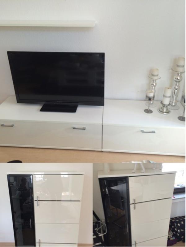 wohnwand hochglanz neu und gebraucht kaufen bei. Black Bedroom Furniture Sets. Home Design Ideas