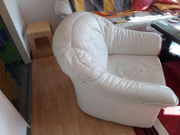 Wei E Ledersessel In Berlin Polster Sessel Couch Kaufen Und Verkaufen Ber Private Kleinanzeigen