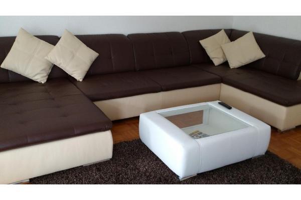 Wohnlandschaft couch luxus kunstleder super preis in for Luxus wohnlandschaft