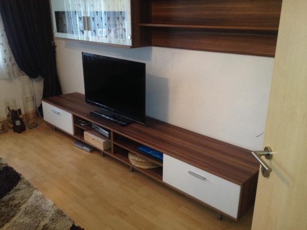 wohnwand buche wei in n rnberg wohnzimmerschr nke anbauw nde kaufen und verkaufen ber. Black Bedroom Furniture Sets. Home Design Ideas