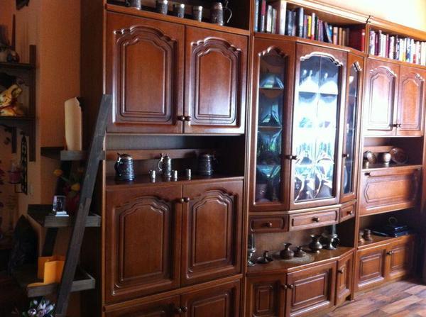 Wohnwand eiche rustikal in h now wohnzimmerschr nke anbauw nde kaufen und verkaufen ber - Wohnwand rustikal ...