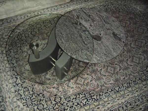 Wohnzimmertisch glas stein marmor in f rth couchtische for Wohnzimmertisch quoka
