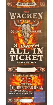 1 Eintrittskarte Wacken