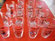 14 Gläser Haller