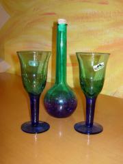 2 Gläser Karaffe
