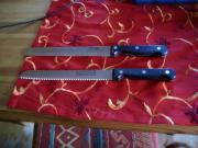 2 hochwertige Messer mit Wellenschliff