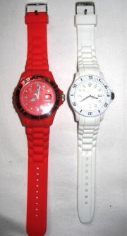 2 Uhren Rot Weiss - unbenutzt