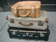 3 alte Koffer -