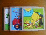 3 Holz Kinderpuzzle
