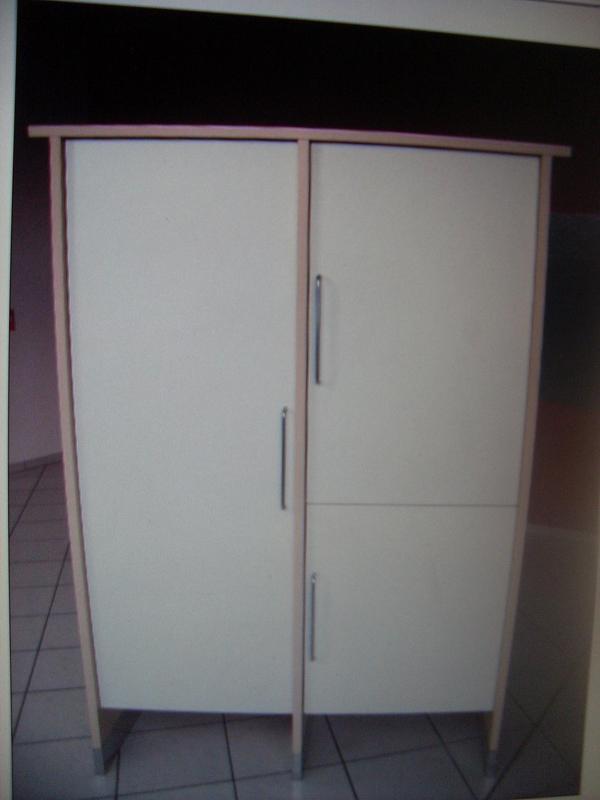 3 Küchenschränke, komplett oder einzeln in ahorn, Türen weiß in ... | {Küchenmöbel einzeln 36}