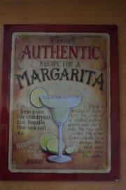 4 Blechschilder mit Cocktailrezepten