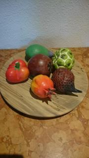 6 Dekofrüchte Früchte aus Holz