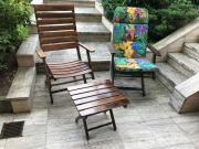 6 Holzgartenstühle mit