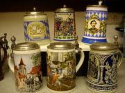 6 schöne Bierkrüge
