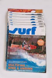 7 x Zeitschrift Surf Jahrgang