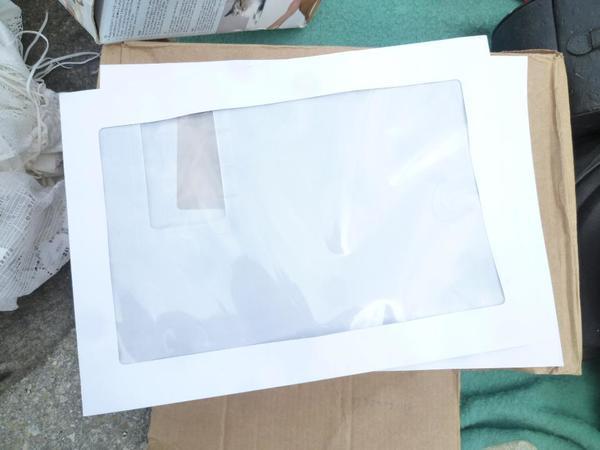 A4 Papier Orange Briefumschlage silber