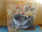 Acrylbils Keilrahmen Kaffee