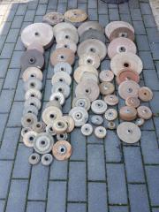 Alte Schleifsteine Sandsteine Schleifmaschine 62