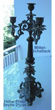 Antikart Kerzenständer Metall Höhe 51cm