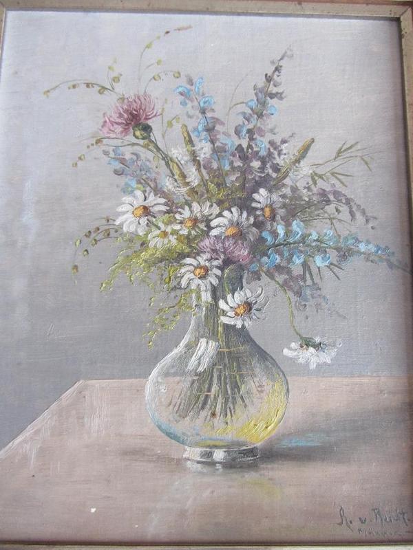 Anton v Rüdt Bild Blumenmotiv
