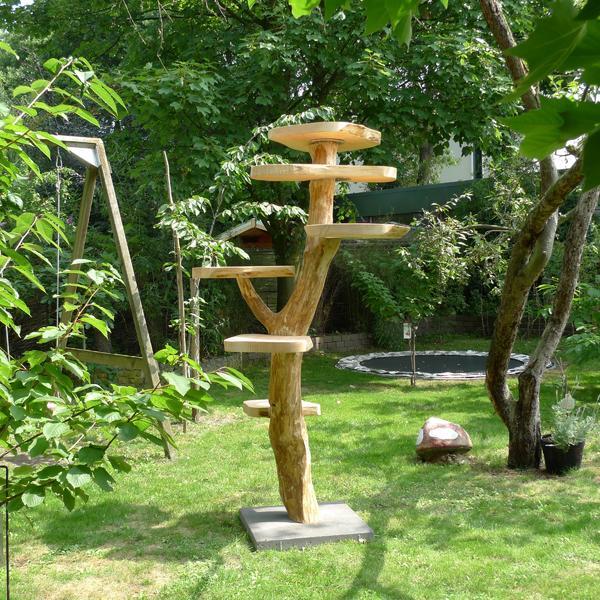 aussen kratzbaum von treeworld aussen kratzb ume aus holz naturholz katzenbaum naturkratzbaum. Black Bedroom Furniture Sets. Home Design Ideas
