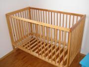 Babybett höhenverstellbar Kiefer
