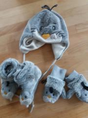 Babywintermütze+Handschuhe+Schuhe