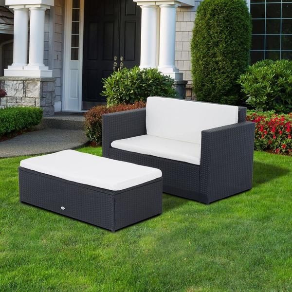 balkon sitzgruppe garnitur garten terrasse set lounge sofa. Black Bedroom Furniture Sets. Home Design Ideas